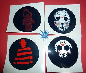 Horror Stickers Set of 4   2.5in round