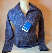 New Columbia Women's $50 1/2 Zip Arctic Air Printed Blue Fleece Blue FREE SHIP