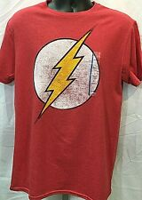 Flash Logo Official T-Shirt Red Licensed DC Tee Various Sizes