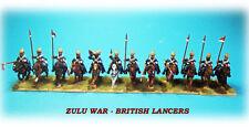 Zulu War 1879 - British Lancers Unit x 12