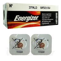 2 x Energizer Silver Oxide 379 DL batteries 1.55V SR521SW V379 Watch