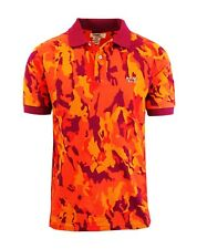 Mens Polo Shirts Camo Printed Cotton Slim Fit Lounge Dress Colors Collar NWT NEW
