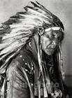 1926 Vintage NATIVE AMERICAN INDIAN Oklahoma Osagi Chief Photo Art By E.O. HOPPE