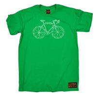 Cycling T-Shirt Funny Novelty Mens tee TShirt - Bike Part Words