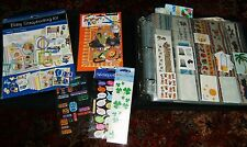 Huge Mixed Lot of Vintage SCRAPBOOKING Stickers Letters Boarders Grossmans Etc.