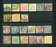Thurn and Taxis/Germany Collection of 21 Stamps.  Some Faults    (J177)