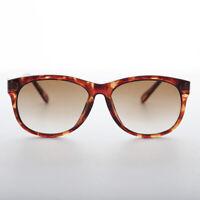 Classic Round 80s Women's Vintage Sunglass Brown Tortoise - Clark