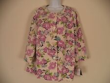 Women's Floral Sag Harbor Top. 18W. 45% Polyester/ 35% Rayon/ 15% Rayon/ 5% Span