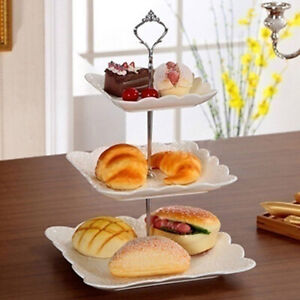 3 TIER HARDWARE CAKE STAND AFTERNOON TEA WEDDING PLATE SUPPLIES PARTY TABLEWARE