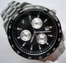 BMW Classic  Business Stainless Steel Sport Accessory Design Chronograph Watch