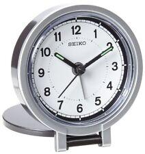 Seiko QHT011KLH Travel Analog Clock NEW, Free Shipping