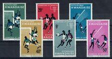 RWANDA 161 à 166 ** MNH 1966 SPORTS FOOTBALL BASKET-BALL VOLLEY-BALL