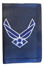 United States Air Force Logo II Wings Trifold Wallet Blue USAF