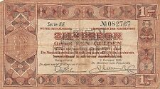 Netherlands 1 zilverbon 1938 Pick 61 Very Good , EE 082767
