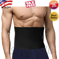 Waist Trimmer Belt Weight Loss Wrap Stomach Fat Burner Abdominal Trainer Sauna