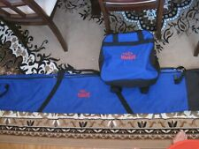 Blue Marker Ski and Ski Boot Zippered Carry Bags with Shoulder Straps Preowned