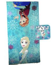 NWT Disney Frozen Teal Lovely Sisters Snowflake Bath/Pool Towel & Washcloth Set