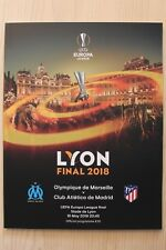 2018 EUROPA LEAGUE CUP FINAL PROGRAMME(ATHLETICO MADRID V MARSEILLE)(16/05/2018)