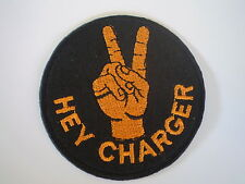 """Valiant """" Hey Charger """" Embroidered Cloth Sew On Patch.QualityRepo.R/T Chrysler"""