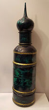 Russian Wood Carved Vodka Bottle Holder Kremlin Theme Moscow