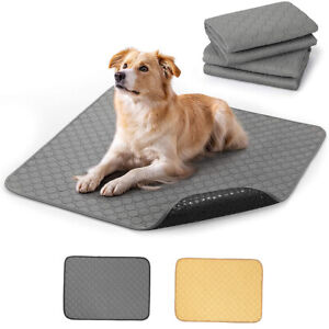 Non-Slip Dog Pee Pads Washable Pet Mat w/Great Absorbency for Training Whelping