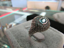 14k White Gold Zircon Ring Size 8 (10-25-18)