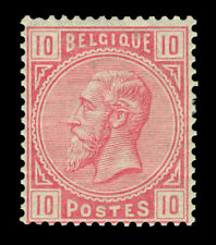 BELGIUM 1883  King Leopold II  10c carmine  Scott # 45  mint MLH
