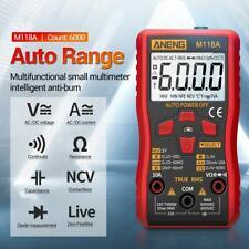 Digital Multimeter Meter Amp Ohm Voltmeter Auto/Manual Range Volt Tester DC AC