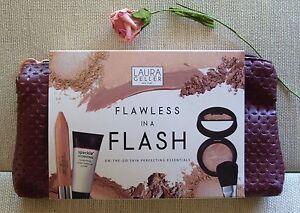 Laura Geller FLAWLESS IN A FLASH Concealer Foundation, Primer, Brush + WRISTLET!
