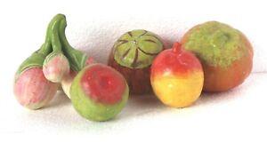 Esstisch Vintage Handgefertigt Ton Früchte & Gemüse Dekorativ Sammlerstück B-27