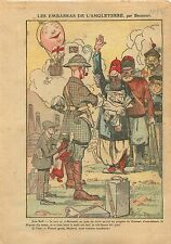 Caricature John Bull Mosul Iraq Mossoul Irak British Dominions 1925 ILLUSTRATION