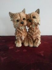 "Danbury Mint Yorkshire Terrier Dog Figurine Statue Set ""lean On Me�"