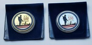 2018 WW1 THE GREAT WAR 1914-1918 - Armistice Day Plated Colour Medal Coin