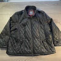 Vince Camuto Womens Black Down Geo Quilting Jacket Outerwear 3XL