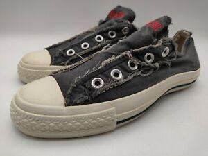 Converse John Varvatos Women's Distressed No Lace Women's Shoes Size 6 Blue