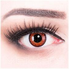 Farbige Halloween Kontaktlinsen rote Vampire Crazy braun rot orange schwarz