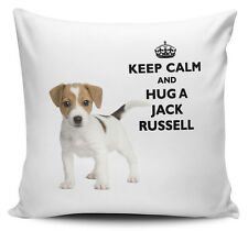 Keep Calm And Hug A Jack Russell Cushion Cover - 40cm x 40cm