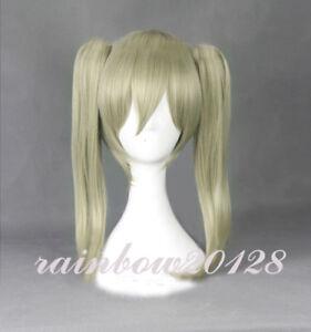 SOUL EATER MAKA ALBARN Anime Cosplay Wig +2 Clip Ponytail