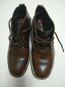 Red Tape Size 10 Men's Brown Leather Chukka Boots