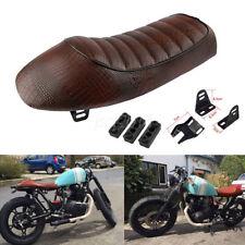 Motorcycle Vintage Cafe Racer Saddle Seat Brown For KZ550 K750 Z650 W650 KZ400