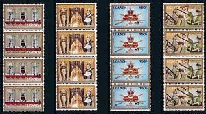 [PG10151] Uganda 1979 good set in strip of 4 stamps very fine MNH