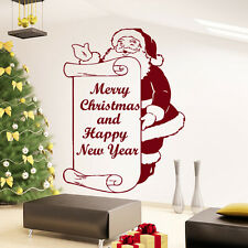 Wall Decals Merry Christmas and Happy New Year Decal Sticker Vinyl Bedroom MS739