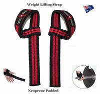 POWER PUNCH WEIGHT LIFTING STRAPS. WEIGHTLIFTING BODYBUILDING WRIST BAR SUPPORT