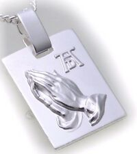 Neu Anhänger betende Hände echt Silber 925 15x11 mm Jesus Sterlingsilber Christ
