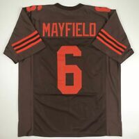 New BAKER MAYFIELD Cleveland Color Rush Custom Stitched Football Jersey Men's XL