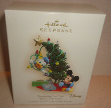 Hallmark Disney Trimming the Tree Mickey Mouse & Donald Duck Ornament New Box