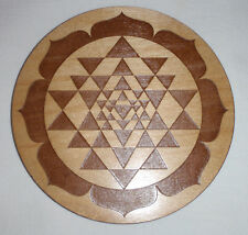 SRI YANTRA SRI CHAKRA Crystal Grid Plate Sacred Geometry Healing Metaphysical 6""