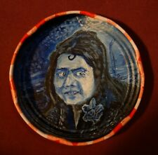 LIZZIE MILES, Jam Jar Lid Portrait, Blues Singer, Outsider Folk Art by PETER ORR