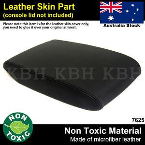 Leather Armrest Center Console Lid Cover Fits Toyota Kluger 2008-2013 Black