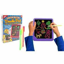 Neon Light Up Tablet Kids Glow Pad Draw Doodle Board Art Playset